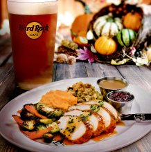 Thankgiving at Hard Rock Cafe_Fall of Flavour dish and drink